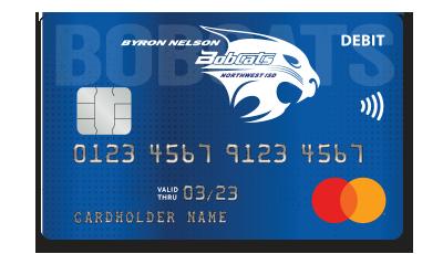 Byron Nelson Bobcats Debit Card